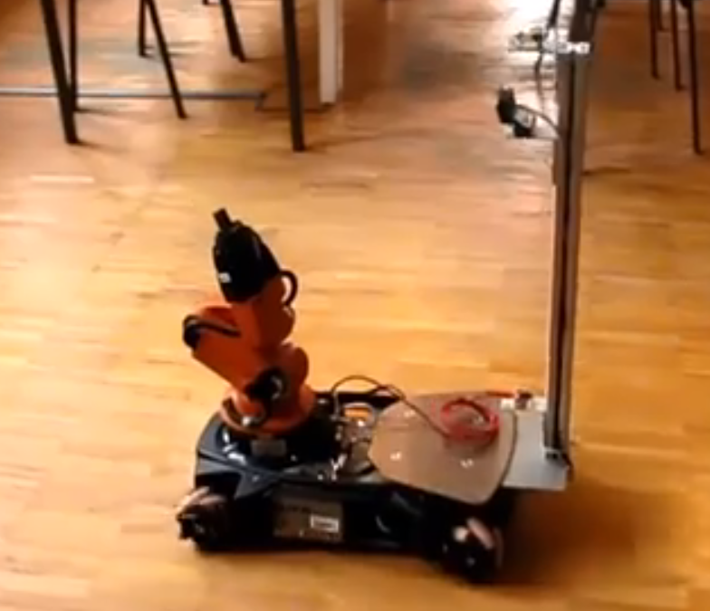 ultrasound based indoor localization system for the youBot