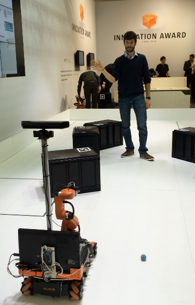 Safe control of mobile robots for productive industrial operations