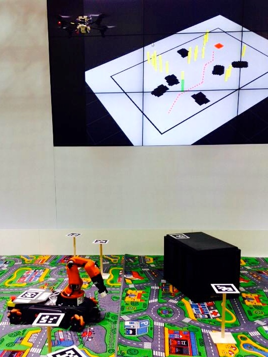 Collaborative Air-Ground Robotics using the KUKA youBot by University of Zurich at AUTOMATICA 2014